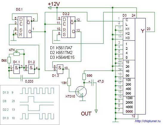 простейшая схема намотки одометра на уазе - Практическая схемотехника.