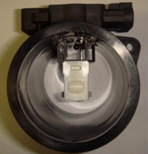 Датчик массового расхода воздуха вид со стороны фильтра.