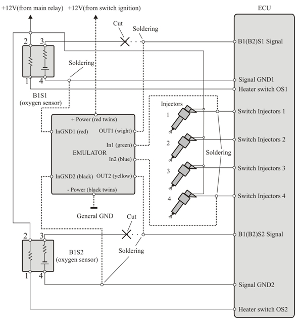 Нумерация соединений на данной схеме, может не соответствовать схемам...  5. Подключение и настройка прибора.