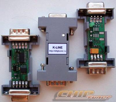"""Адаптер K-Line собран по одной из самых  """"продвинутых """" схем с использованием специализированной микросхемы DS275..."""