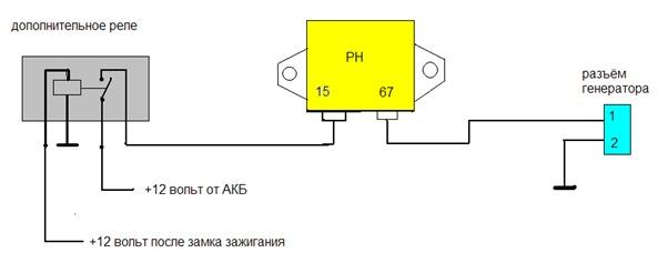 Схема управления генератором