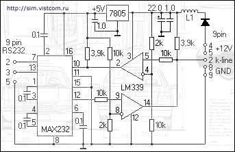 Я хочу сделать USB K-Line адаптер.  У... Она на компараторе.