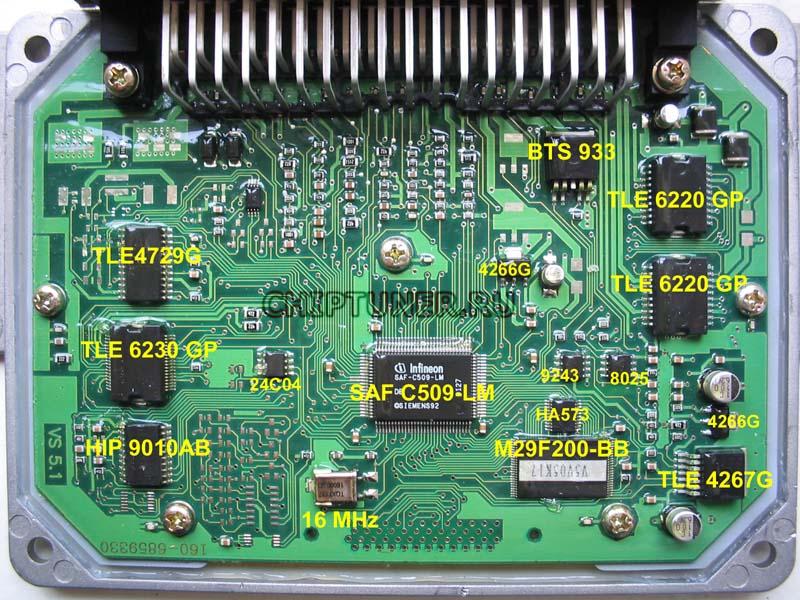 Схема ЭБУ старой аппаратной